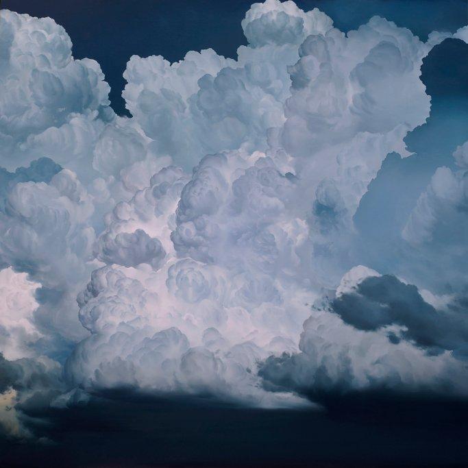 Atmosphere No. 47 – The Four Horsemen (2013) | 72×72 pollici, olio su tela.