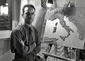AA.VV. Anonimo / s.t., Man with Italy map, vintage gelatin silver print