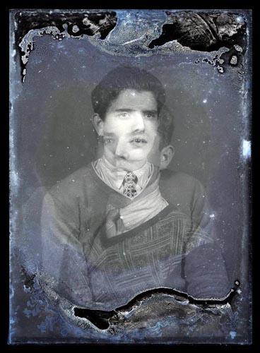Tin Piernu / Centro Studi Nediža / s.t., Useful Portraits #8, inkjet print from the original glass plate