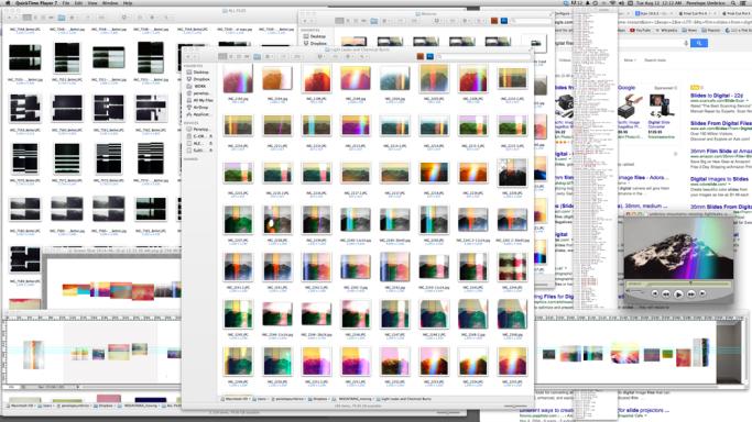Screenshot from Penelope Umbrico's computer