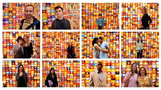Penelope Umbrico, People in front of Suns from Flickr, from the series Suns (From Sunsets) from Flickr, 2006 - ongoing