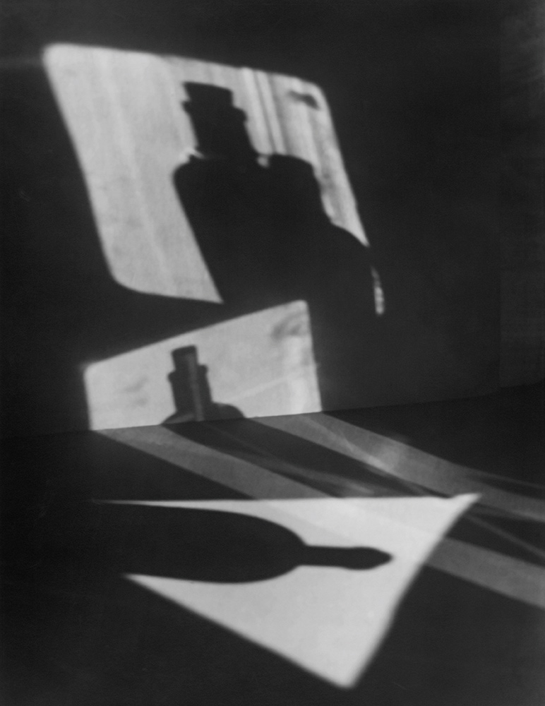 Jaromir Funke, Composition (bottle shadows), 1927. Prague House of Photography. Portfolio IV. Print III. Edition 6/30. Collection Marc Rubenstein, NYC.