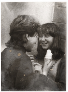Miroslav Tichy, Untitled (young couple with ice-cream), 1960s